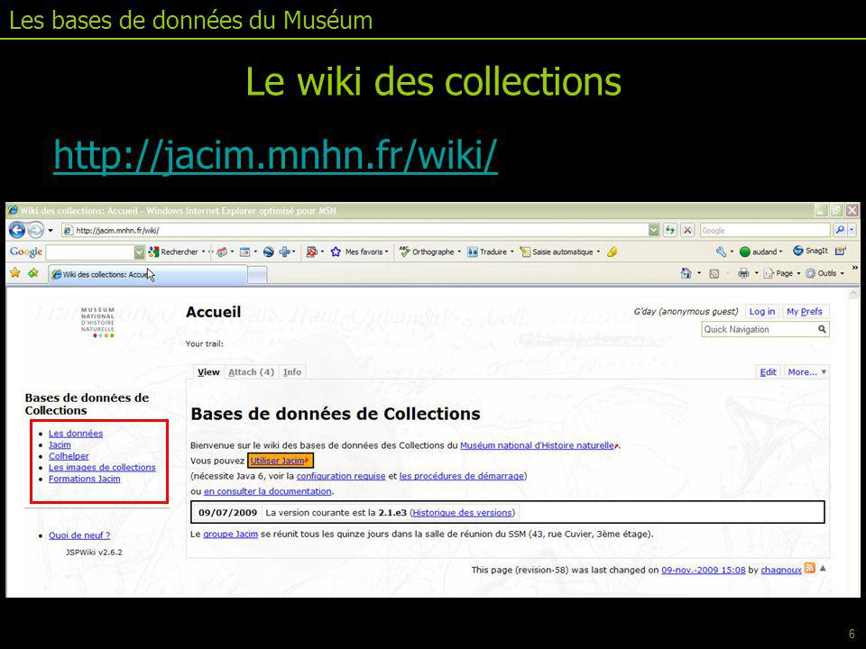 Le wiki des collections