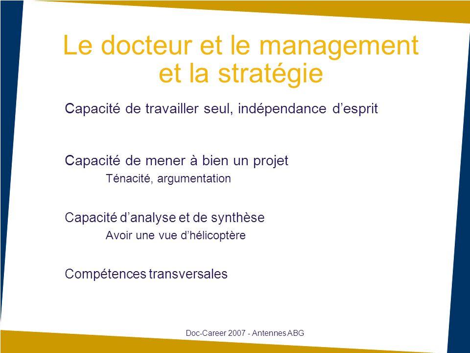 Le docteur et le management et la stratégie