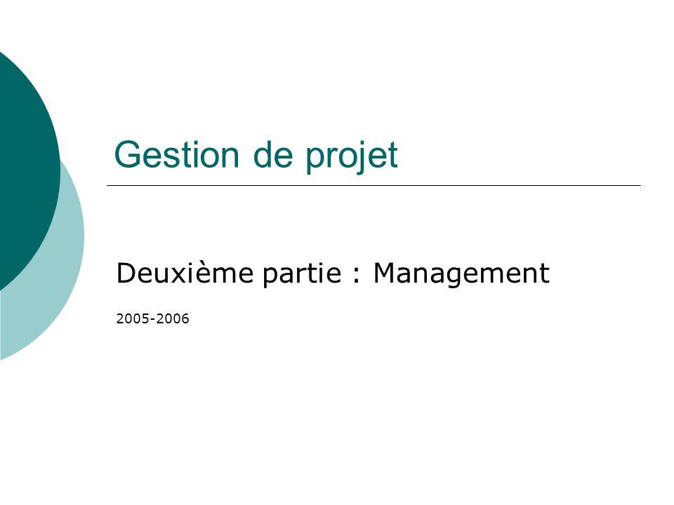 Deuxième partie : Management 2005-2006