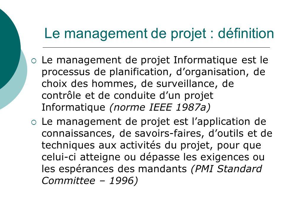 Le management de projet : définition