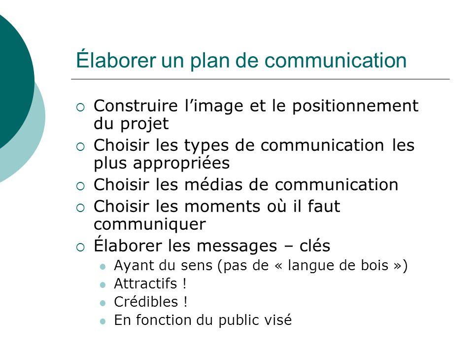 Élaborer un plan de communication