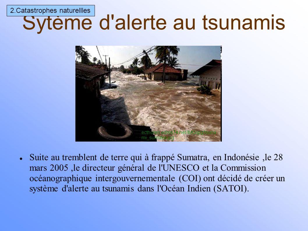 Sytème d alerte au tsunamis
