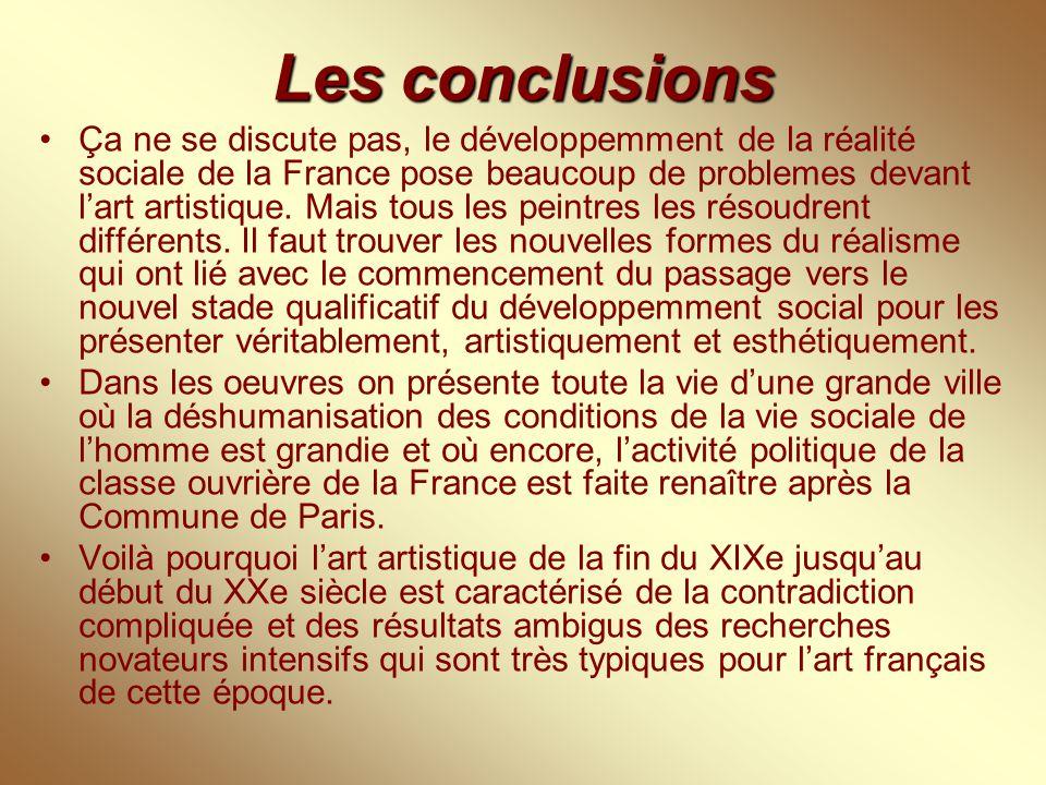 Les conclusions