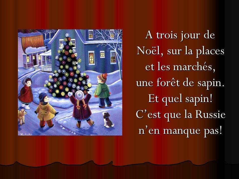 A trois jour de Noël, sur la places et les marchés, une forêt de sapin
