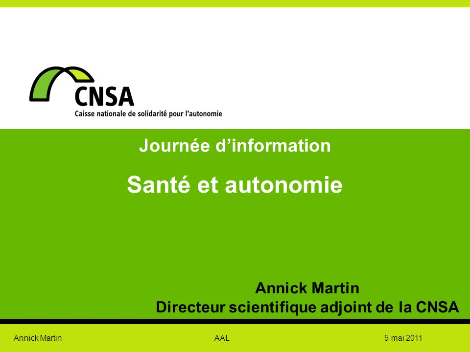 Journée d'information Directeur scientifique adjoint de la CNSA