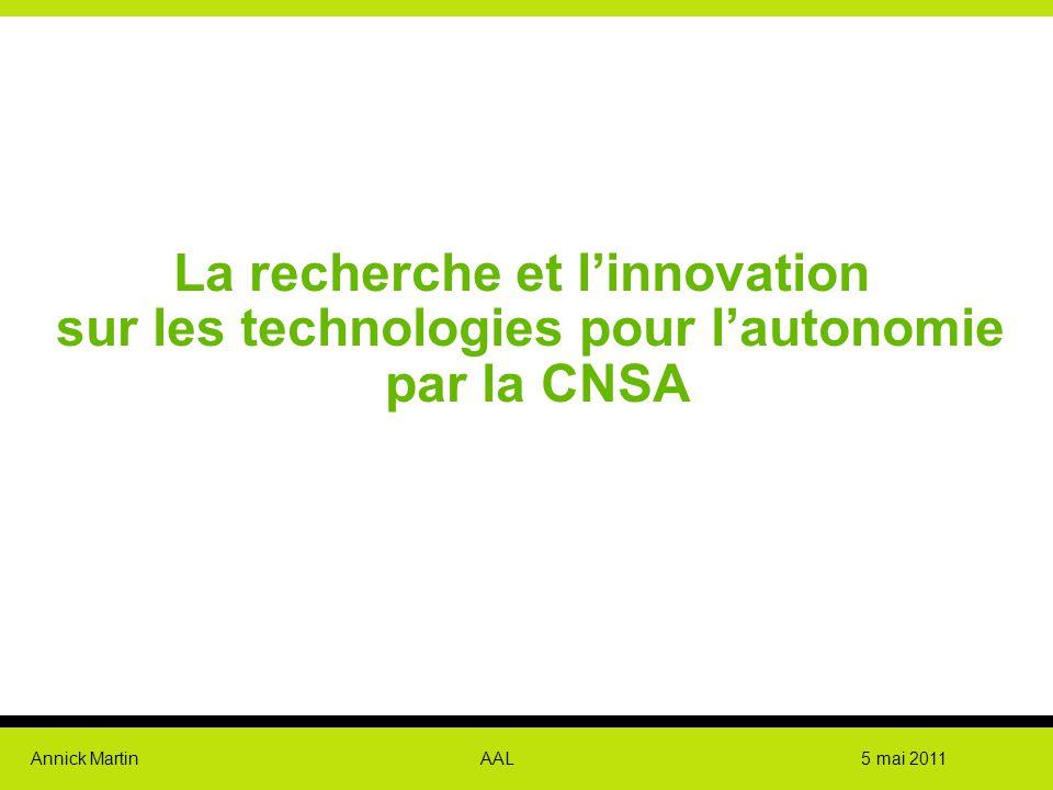 La recherche et l'innovation sur les technologies pour l'autonomie par la CNSA