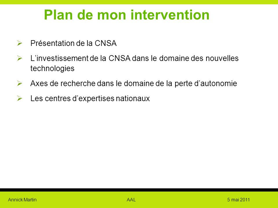 Plan de mon intervention