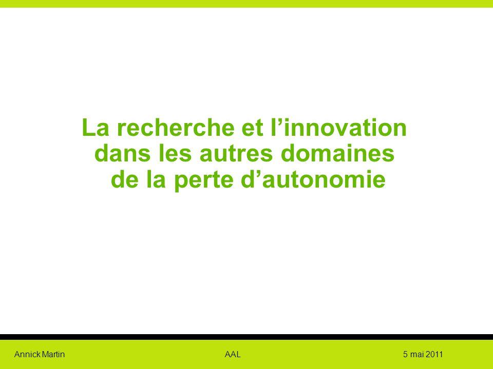 La recherche et l'innovation dans les autres domaines de la perte d'autonomie