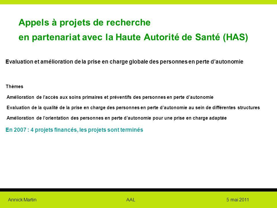 Appels à projets de recherche en partenariat avec la Haute Autorité de Santé (HAS)