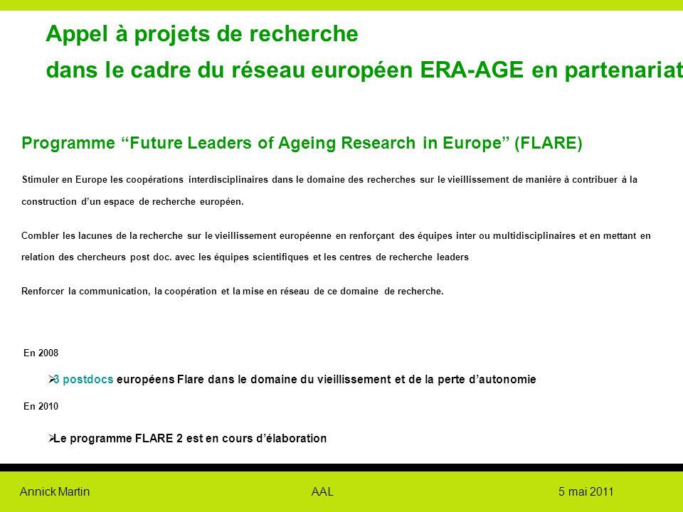 Appel à projets de recherche dans le cadre du réseau européen ERA-AGE en partenariat avec la CNAV