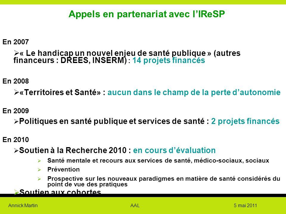 Appels en partenariat avec l'IReSP