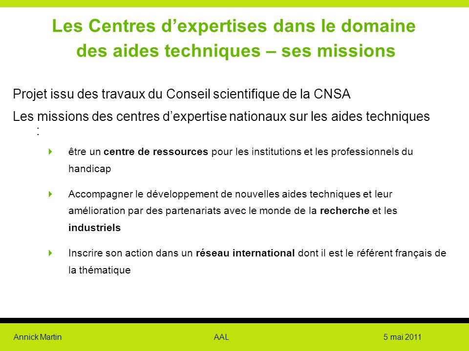 Les Centres d'expertises dans le domaine des aides techniques – ses missions