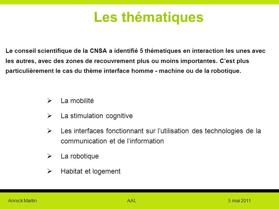 Les thématiques La mobilité La stimulation cognitive