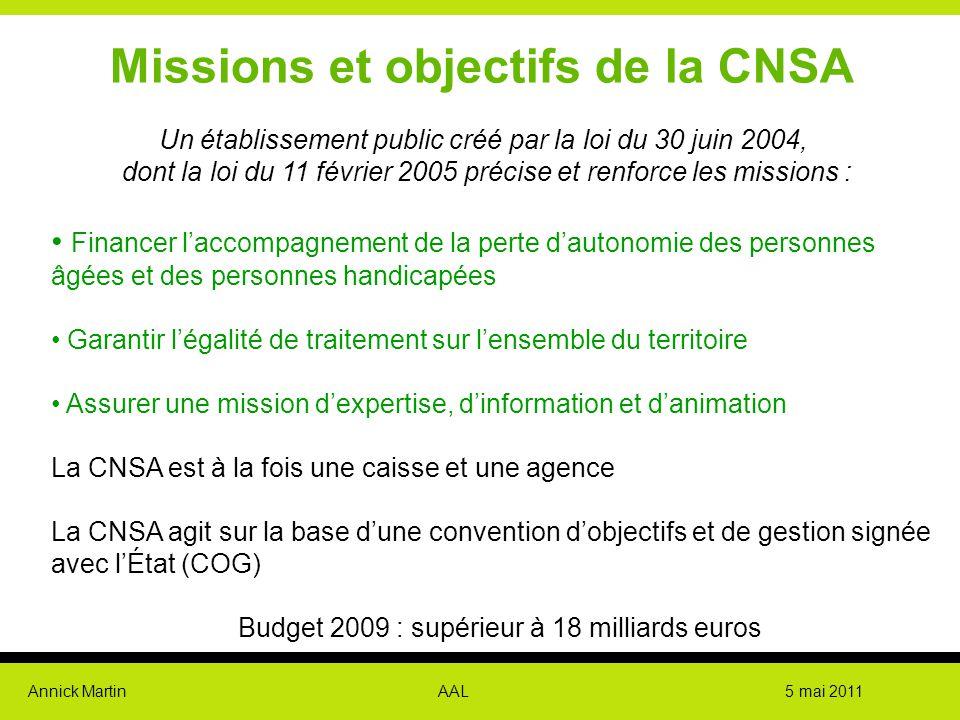 Missions et objectifs de la CNSA