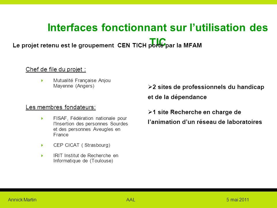 Interfaces fonctionnant sur l'utilisation des TIC