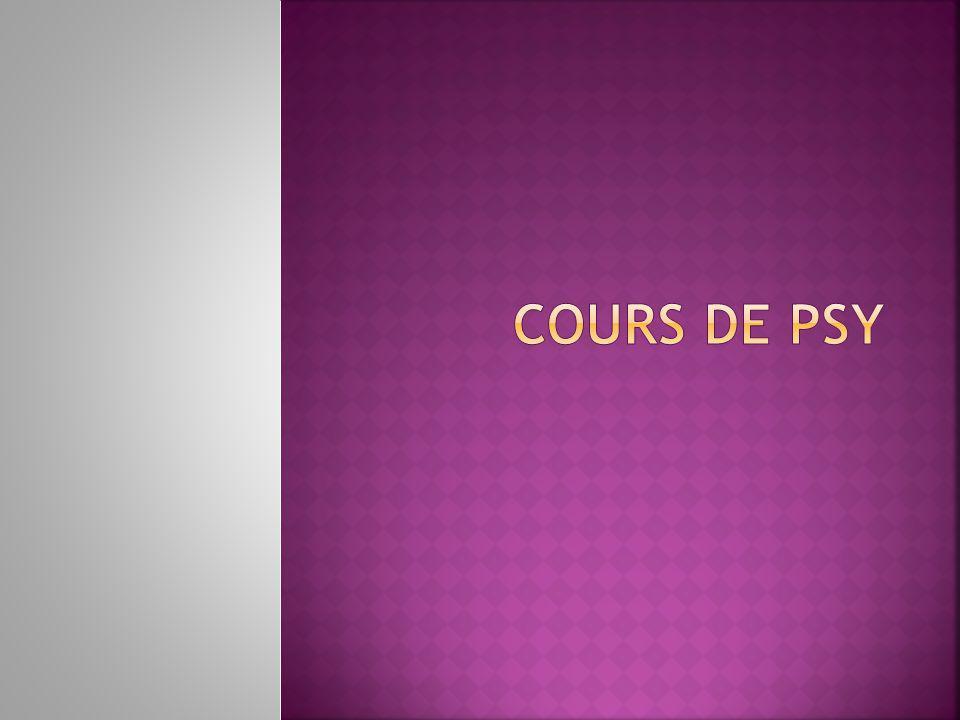 COURS DE PSY
