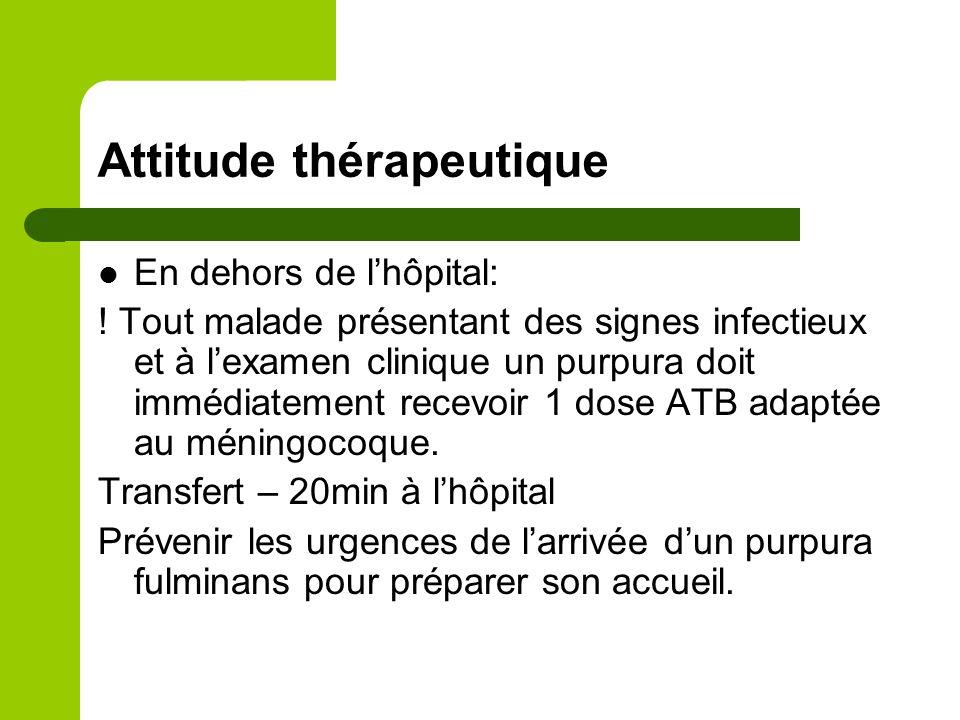 Attitude thérapeutique