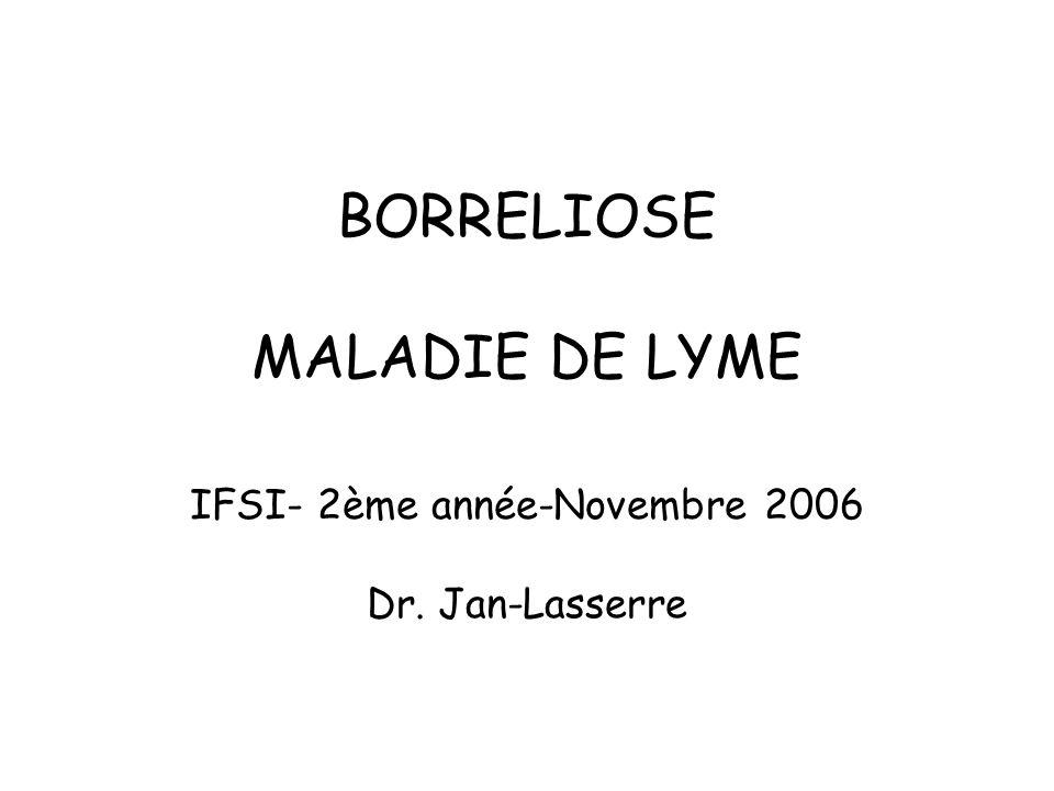 BORRELIOSE MALADIE DE LYME