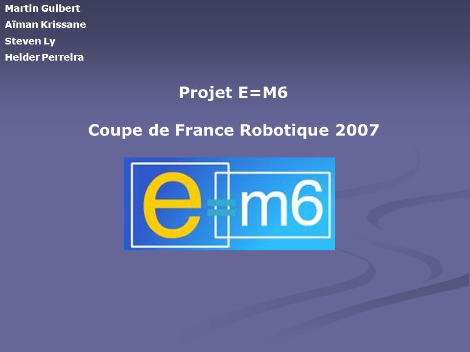Coupe de France Robotique 2007