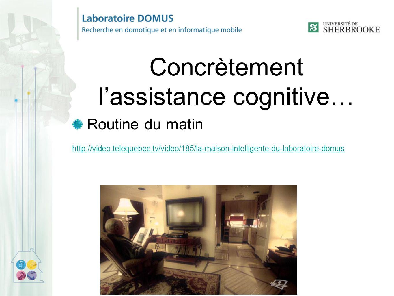 Concrètement l'assistance cognitive…
