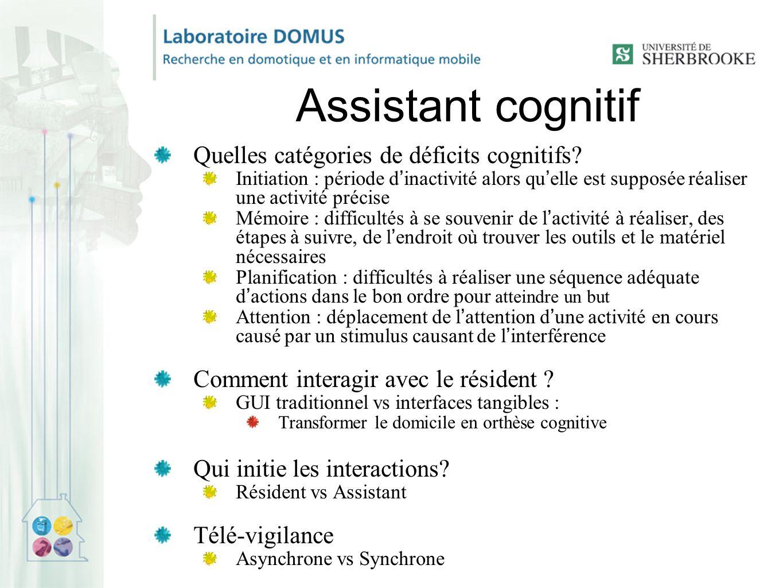 Assistant cognitif Quelles catégories de déficits cognitifs
