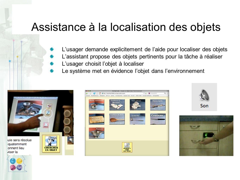 Assistance à la localisation des objets