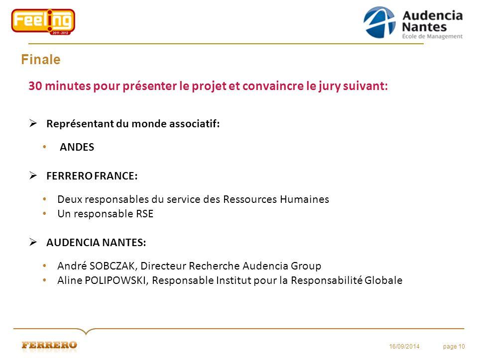 30 minutes pour présenter le projet et convaincre le jury suivant: