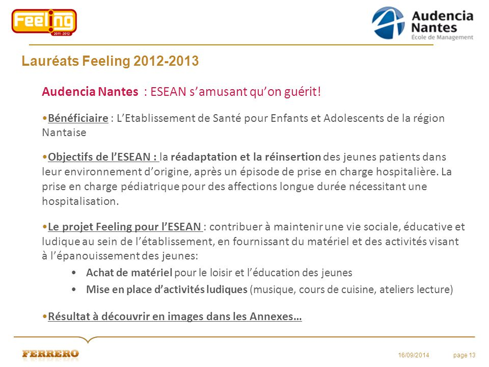 Audencia Nantes : ESEAN s'amusant qu'on guérit!