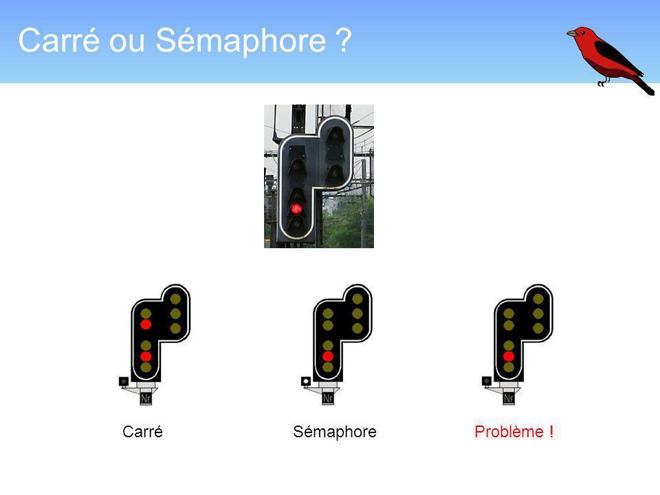 Carré ou Sémaphore Carré Sémaphore Problème !