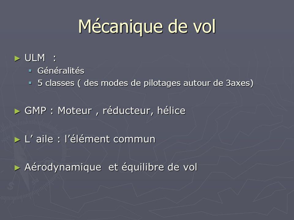 Mécanique de vol ULM : GMP : Moteur , réducteur, hélice