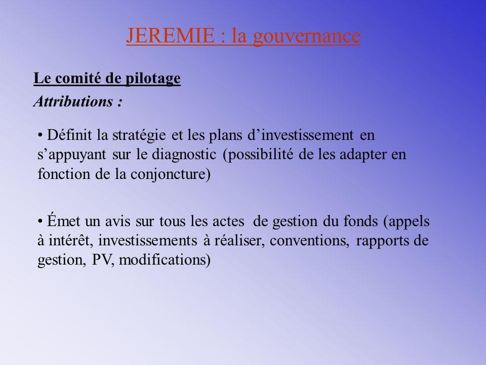 JEREMIE : la gouvernance