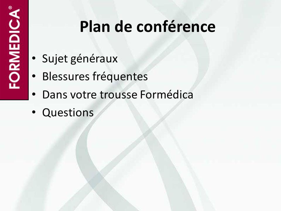 Plan de conférence Sujet généraux Blessures fréquentes