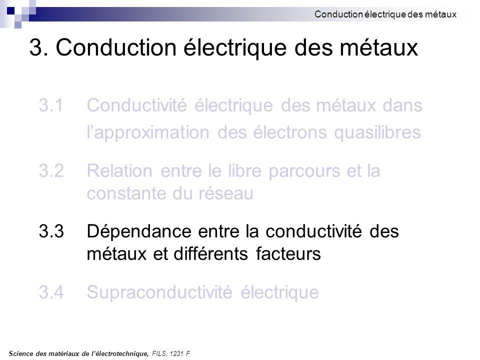 3. Conduction électrique des métaux