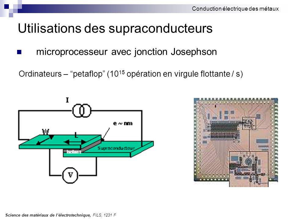 Utilisations des supraconducteurs