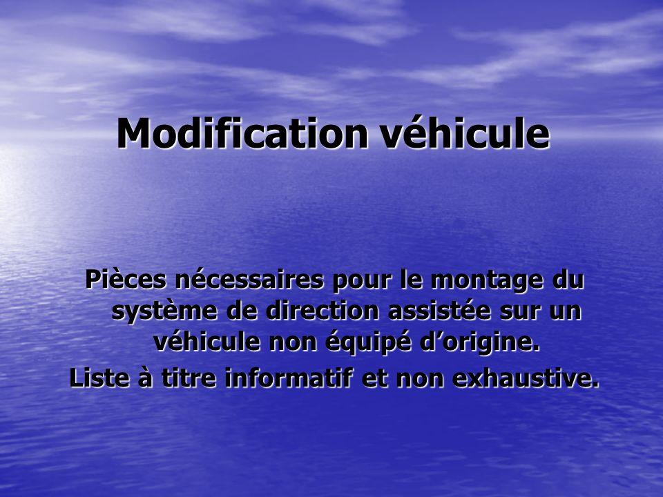 Modification véhicule