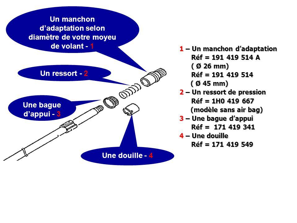 Un manchon d'adaptation selon diamètre de votre moyeu de volant - 1