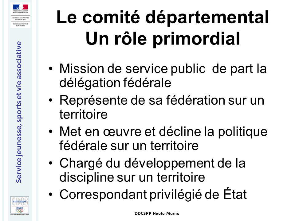 Le comité départemental Un rôle primordial