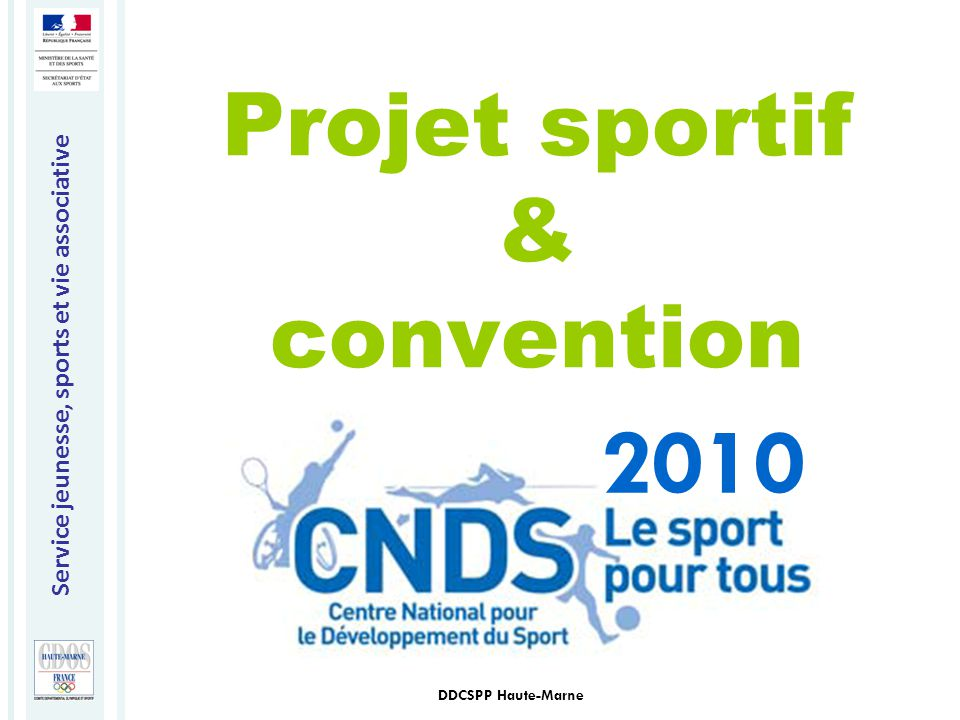 Projet sportif & convention
