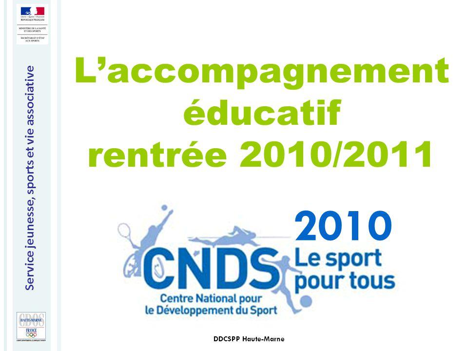 L'accompagnement éducatif rentrée 2010/2011