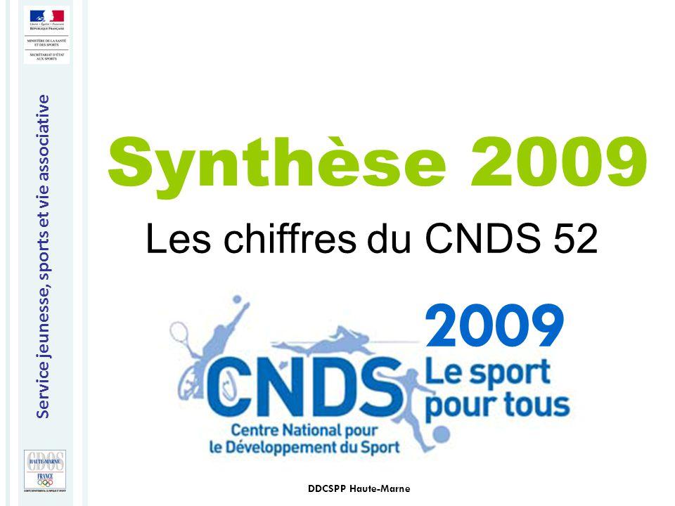 Synthèse 2009 Les chiffres du CNDS 52 2009 DDCSPP Haute-Marne