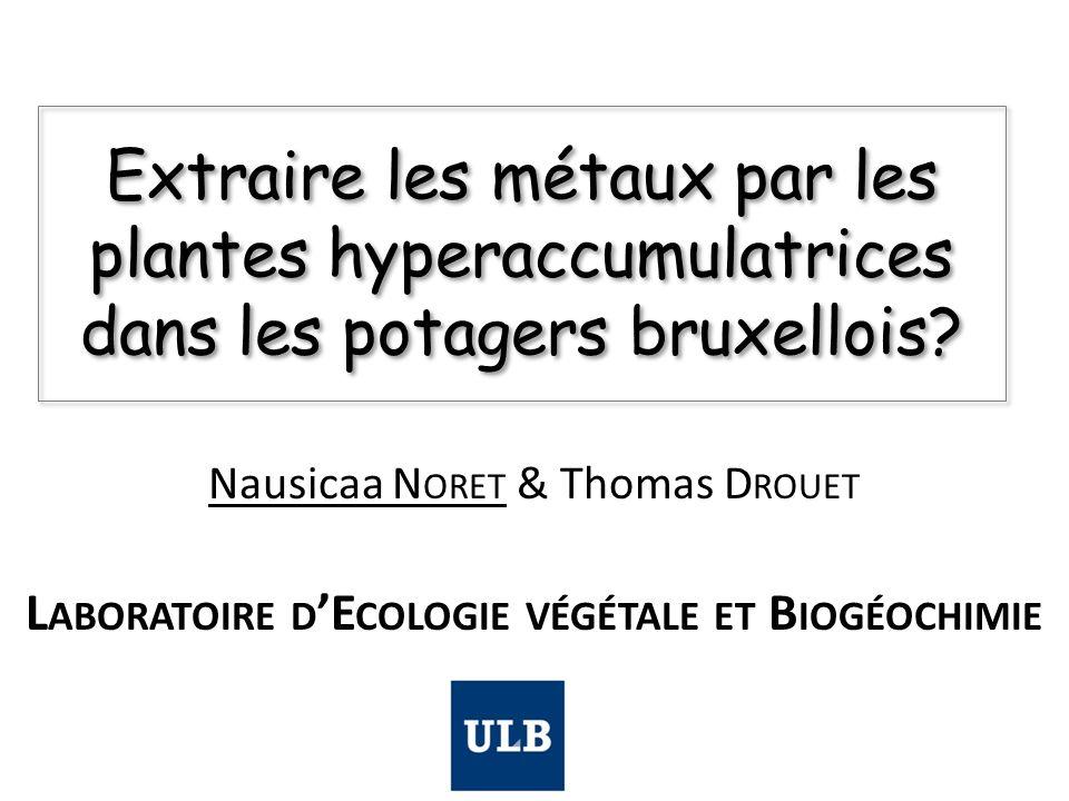 Laboratoire d'Ecologie végétale et Biogéochimie
