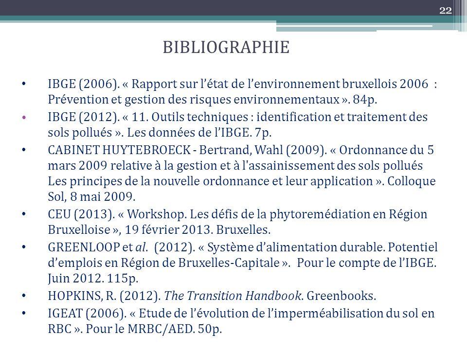 22 BIBLIOGRAPHIE.