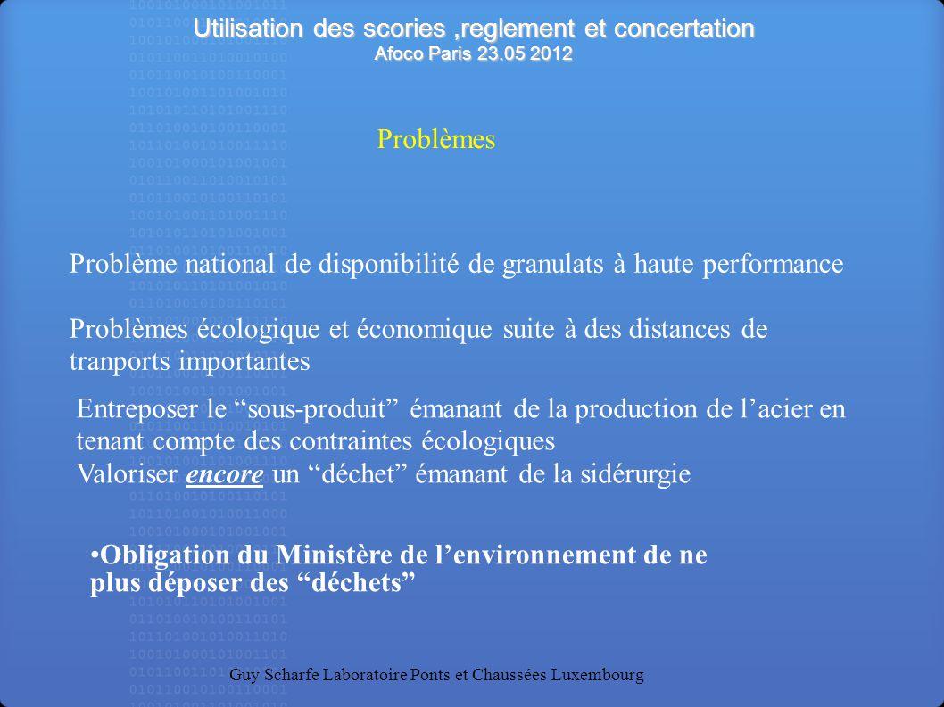 Problème national de disponibilité de granulats à haute performance