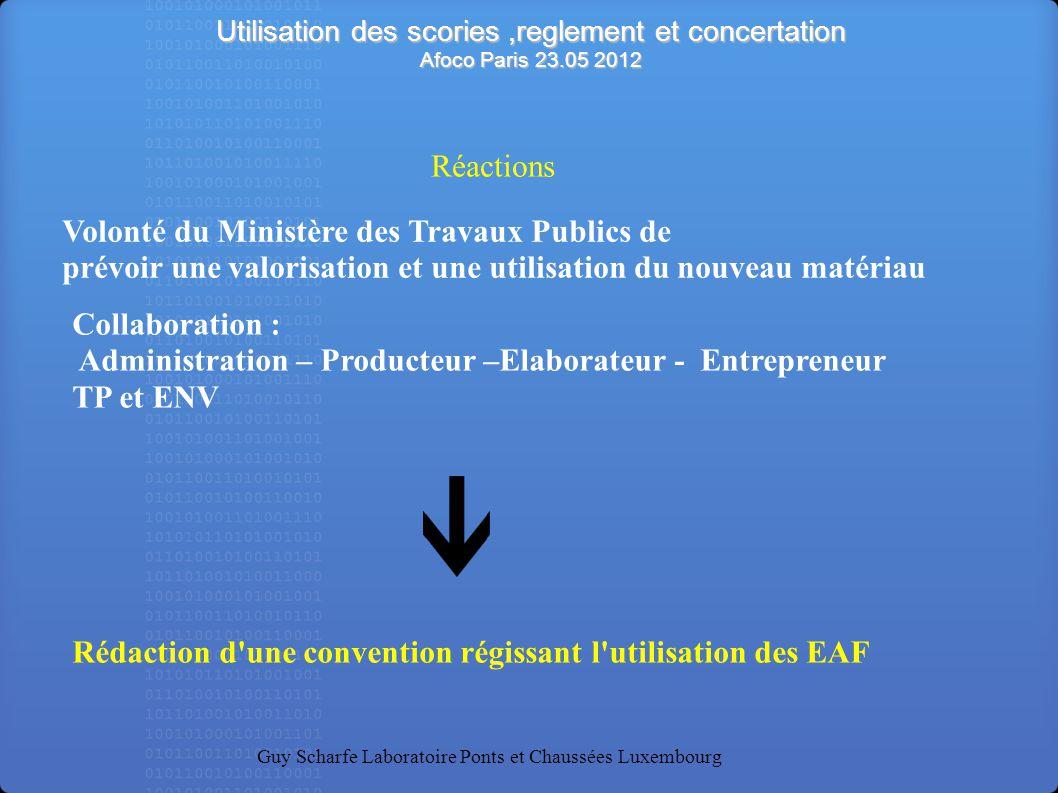 Rédaction d une convention régissant l utilisation des EAF