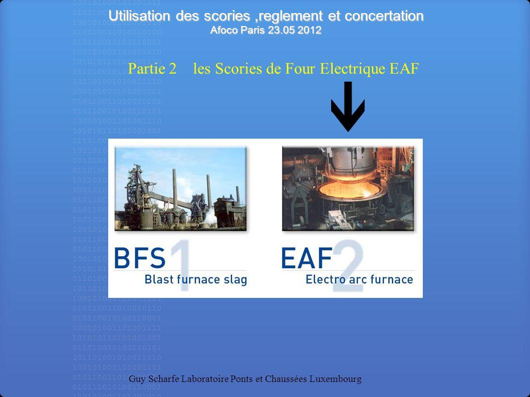 Partie 2 les Scories de Four Electrique EAF