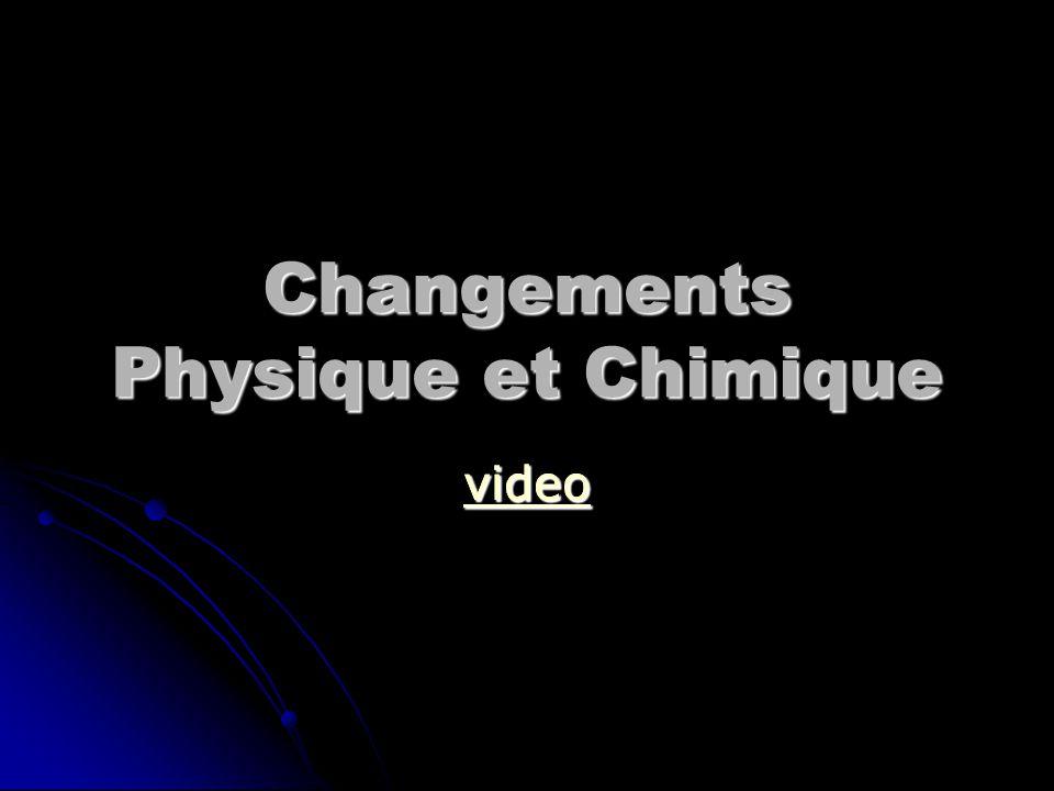 Changements Physique et Chimique