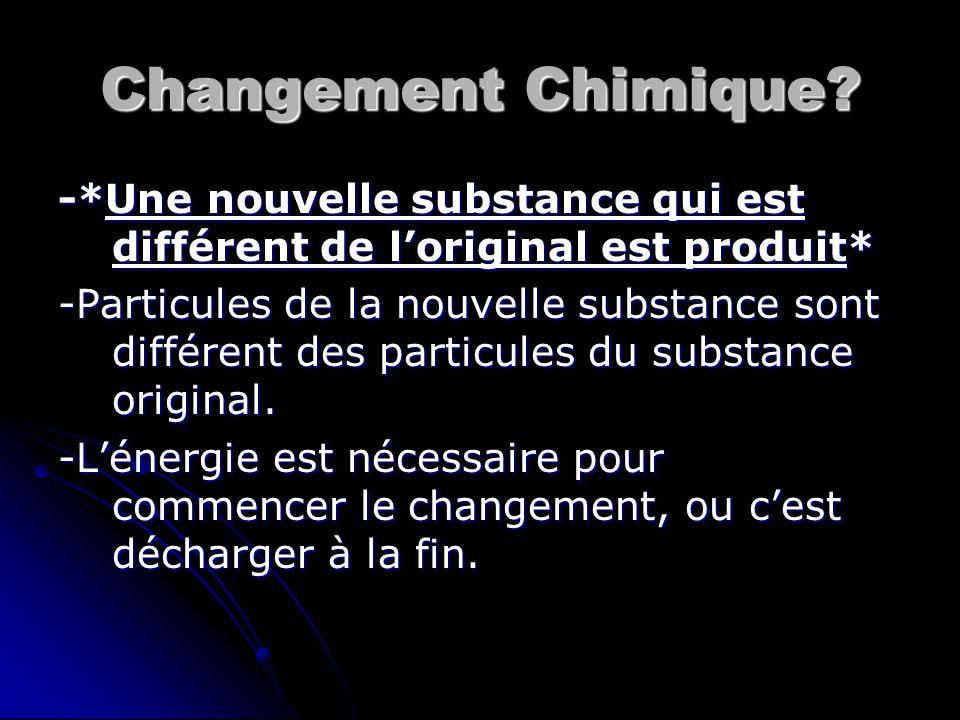 Changement Chimique