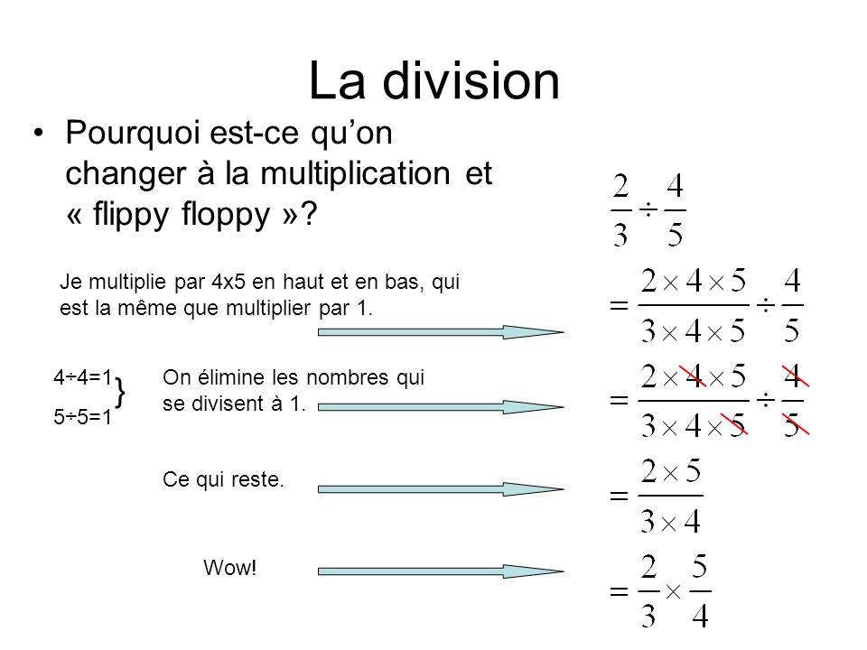 La division Pourquoi est-ce qu'on changer à la multiplication et « flippy floppy »