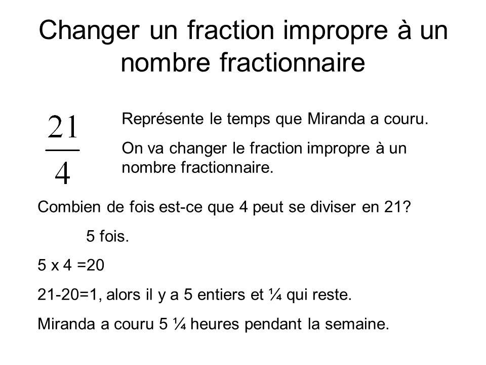 Changer un fraction impropre à un nombre fractionnaire