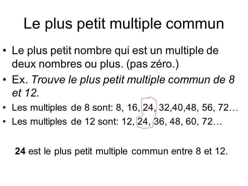 Le plus petit multiple commun